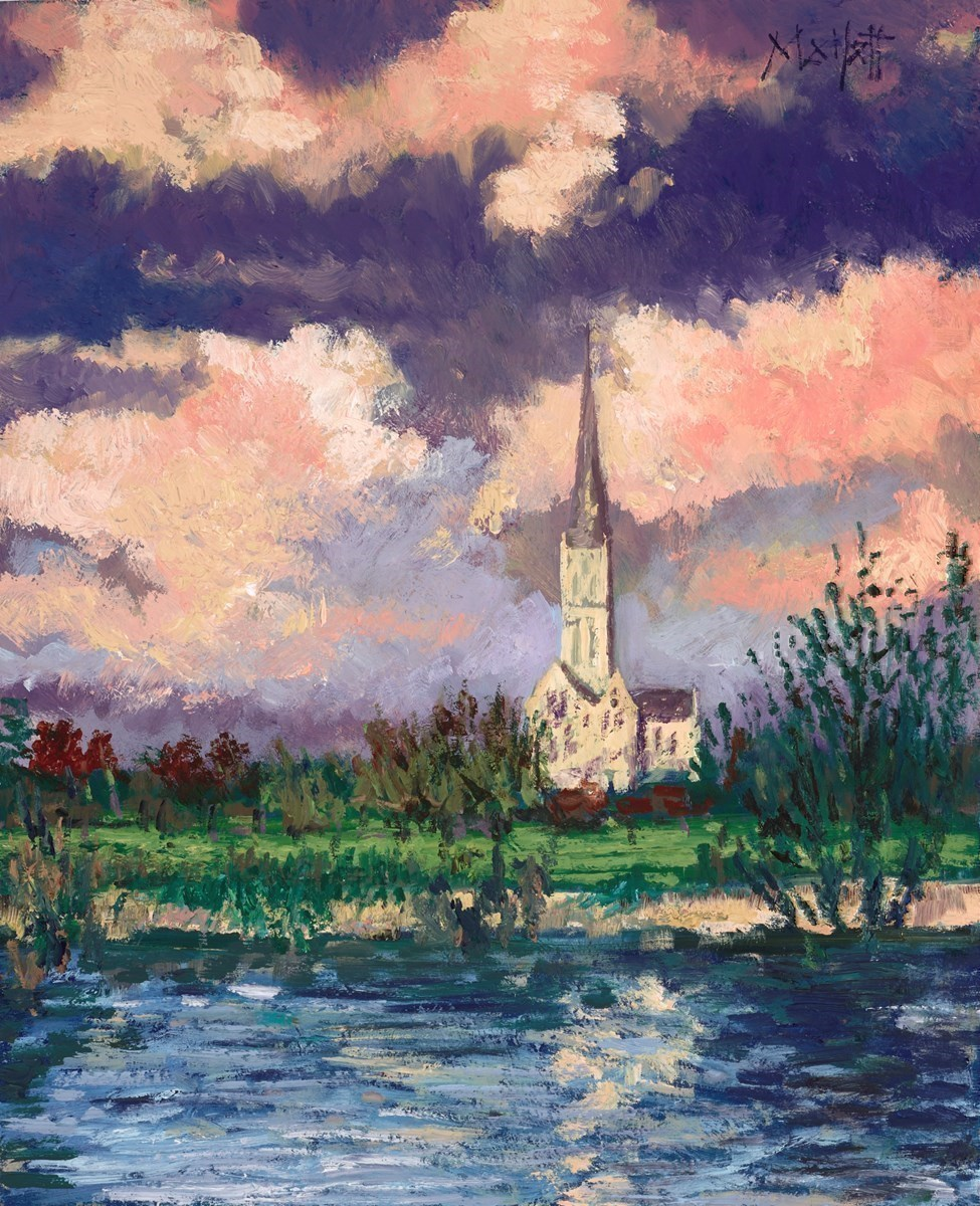 Sailsbury Cathedral by Timmy Mallett -  sized 10x12 inches. Available from Whitewall Galleries